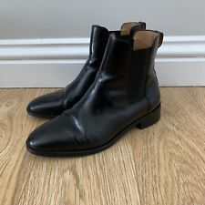Cos Womens Chelsea Boots Shoes Black Leather Size 5 UK / Eur 38