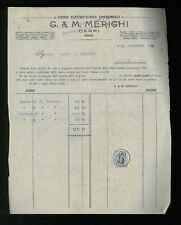 LETTERE COMMERCIALI G.M. MERIGHI STUDIO ELETTROTECNICO CARPI