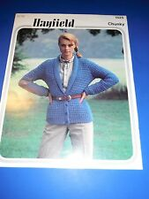 Hayfield Chunky Women's Cardigan Knitting Pattern 1525