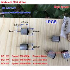 Mabuchi N10 Motor DC1.5V 3V 4.5V 22000RPM Precious Metal Brush Motor for DIY Car