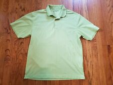 Nike Golf Polo Top Green Large Collared Mens Shirt Athletic Solid Short Sleeve