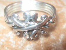 925 STERLING SILVER KNOT DESIGNER FOUR PIECE PUZZLE RING SIZES 5-9