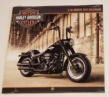"Calendar Harley Davidson 2017 Motor Cycles 16 Month Small Calendar 7"" x 7"""