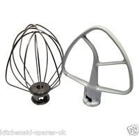 Kitchenaid Beater K45B & Whisk K45WW Genuine Parts For Tilt Head Stand Mixer