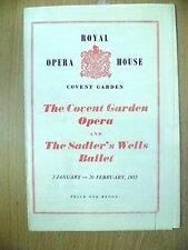 ROYAL OPERA HOUSE COVENT GARDEN OPERA & SADLER'S BALLET MULTI PROGRAMME 1955