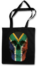 CLASSIC SOUTH AFRICA SKULL FLAG Hipster Shopping Cotton Bag - Biker Banner