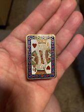 Vintage Cloisonne Trinket Box ~ King of Hearts ~ Enamel Lined Brass ~ Magic