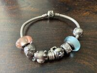 Pandora Charm Bracelet Authentic Disney S925 ALE Pre-Owned Great FAST SHIPPING