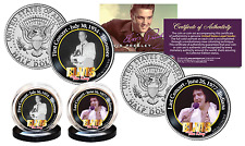 ELVIS PRESLEY * First & Last Concert * Kennedy Half Dollar 2-Coin Set LICENSED