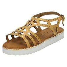 Chaussures marron avec boucle en cuir pour fille de 2 à 16 ans