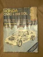 1992-1995 Honda Civic & DelSol Haynes repair, shop manual with wiring diagrams
