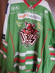 Cardiff Devils game worn St Davids Day ice hockey jersey Tyson Marsh - rare