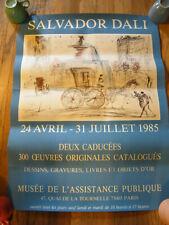 Rare 1985 Salvador Dali Exhibit Poster 24 x 31 Never Framed or Mounted