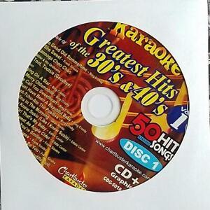 CHARTBUSTER 1930'S & 1940'S HITS KARAOKE CDG 5018-01 CD+G MUSIC - BING CROSBY