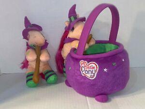 My Little Pony Plush with Basket 2006 Sparkleworks Halloween Witch + Bonus PONY