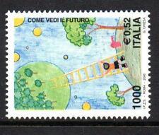ITALIA Gomma integra, non linguellato 2000 sg2624 Stampin il futuro-CHILDREN 'S INT PITTURA COMP