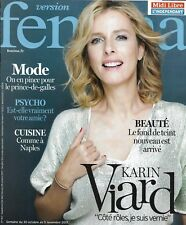 VERSION FEMINA n°813 30/10/2017  Karin Viard/ Cuisine napolitaine/ Fond de teint