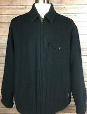 Abercrombie & Fitch Black Full Zip Wool Winter Jacket Men's Sz Large