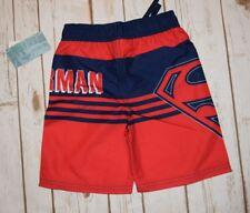 Nwt SUPERMAN Boy DC Comic Swim Trunks shorts UPF 40 size 4T 4 toddler super hero