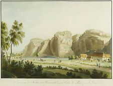 PLAUEN (DRESDEN) - Buschmühle - J.F. Bruder - kolor. Umrissradierung 1800