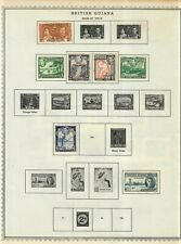 British Guiana & Honduras Stamp Collection On Album Pages Mixed Condition Lot