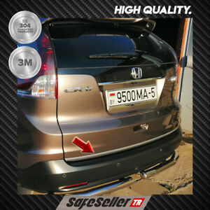 2012-2016 HONDA CRV  Chrome Rear Trunk Tailgate Trim Cover S.STEEL