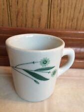 Vintage Caribe Puerto Rico USA Y.3 Diner Coffee Cup Mug Green Floral Restaurant