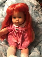 Rare Vintage Zapf Creation 20� Doll - Arms And Head Movable Red Head Htf