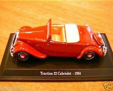 CITROEN TRACTION AVANT 22 CABRIOLET 1934 1/43 ROADSTER UNIVERSAL HOBBIES