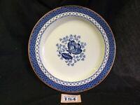 VINTAGE WOODS BURSLEM SANDOWN DINNER PLATE 22.5cm / 9 Inches Blue And White