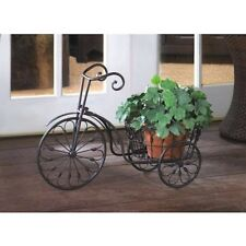 Bicycle Plant Stand w Basket Garden Yard Decor Planter