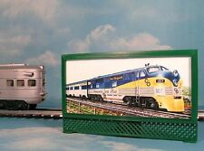 C&O PERE MARQUETTE MODEL RAILROAD LIGHTED BILLBOARD AD for O, O-27 LIONEL TRAINS