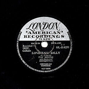 PAT BOONE  78   LONG TALL SALLY / AS LONG AS I'M WITH YOU   LONDON HLD 8291 V+