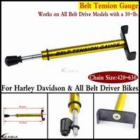 Gold Belt Tension Gauge Adjustable For Harley Davidson & All Belt Driver Bikes