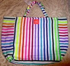LAS BAYADAS LARGE MULTI COLOR BEACH BAG TOTE RECYCLED COTTON 2,2' x 1,5' x 0,8 f
