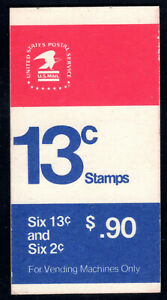 Sc# 1595a,1280c (BK127) 90 Cents - two panes (1975) MNH Booklet  SCV $3.25  Read