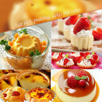 Baking Tool 20PCS Egg Tart Aluminum Cupcake Cake Cookie Flower Mold Mould Tin