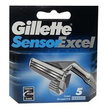 [Gillette] Sensor Excel Razor Blades, Men, Refill, Twin blades - 5 Cartridges