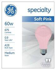 GE Lighting 97483 60-Watt 675-Lumen Decorative A19 Incandescent Light Bulb  Pink
