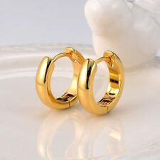 12 Mm 18k Gold Filled Unisex Huggies Hoop Solid Earrings