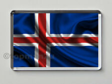 New, Quality Fridge Magnet, Iceland National Flag, World Cup, Icelandic