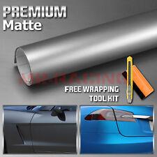 """*12""""x60"""" Premium Matte Gunmetal Gray Vinyl Wrap Sticker Decal Sheet Bubble Free"""