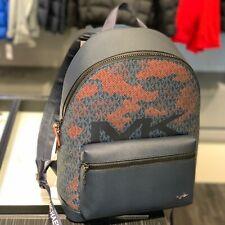 Michael Kors Mens Large Travel Shoulder School Backpack Bag Orange Blue Black MK