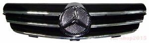Front Grille for W209 03-09 Mercedes-Benz CL Style Chrome & Black CLK350 CLK550