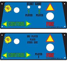 Galaxian arcade cocktail control panel set