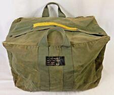 Vintage Navy USN Parachute Traveling Jump Kit Bag Vietnam Era Officers 1968