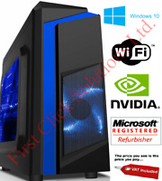 ULTRA FAST Gaming PC Intel Core i7 16GB RAM 1TB Windows 10 4GB GTX 1050Ti