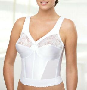 Brand Name MAGIC~LIFT! White Long-Line Bra WIDE-STRAPS Slim & Shape NEW & SEALED