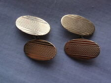 VINTAGE 9 ct GOLD ON SOLID SILVER STERLING 925 ART DECO CUFFLINKS