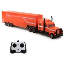 "RC Toy Semi Truck Trailer 18"" Remote Control Rechargeable Battery Included TM-51"